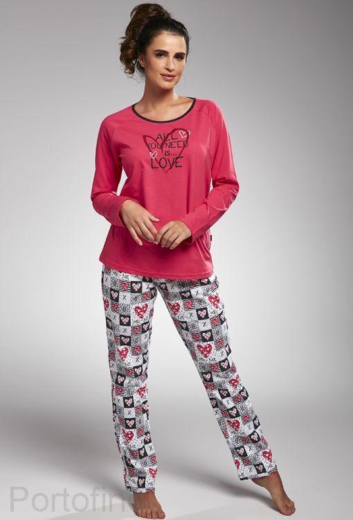 145-164 женская пижама длин.рукав Cornette