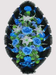 Траурный венок из искусственных цветов #10