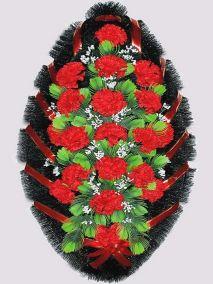 Траурный венок из искусственных цветов #4