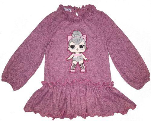 """Платье-туника для девочек """"LOL"""" 2-6 лет OP251"""