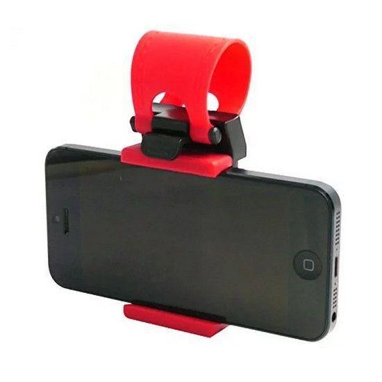 Держатель для телефона на руль, цвет красный