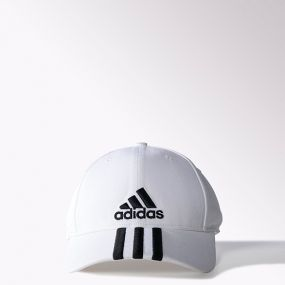 Кепка adidas Performance Cap 3 Stripes Cotton белая
