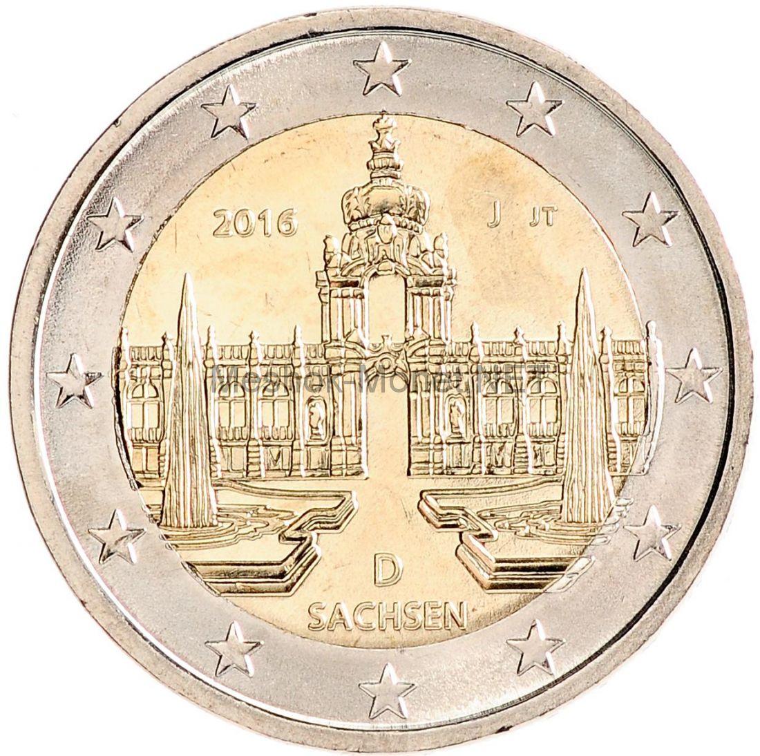 Германия 2 евро 2016, Саксония Дрезден