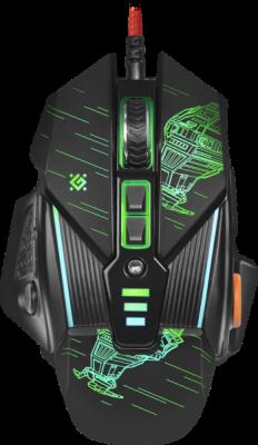Проводная игровая мышь sTarx GM-390L оптика,8кнопок,грузики,3200dpi