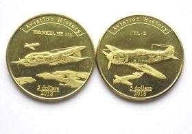 Самолёты Второй мировой войны Набор монет Агрихан 5 долларов 2018  2 Серия