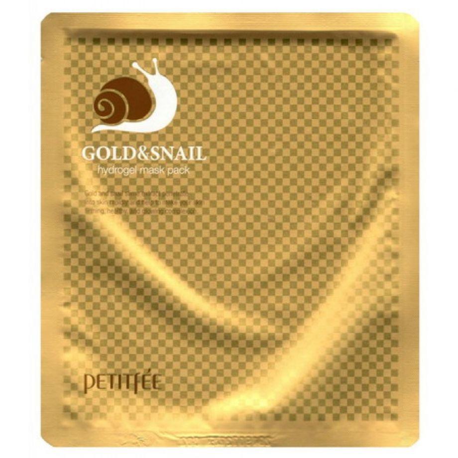 [PETITFEE] Маска д/лица гидрогел. с ЗОЛОТО/МУЦИН УЛИТКИ Gold&Snail Transparent Gel Mask Pack, 30 гр