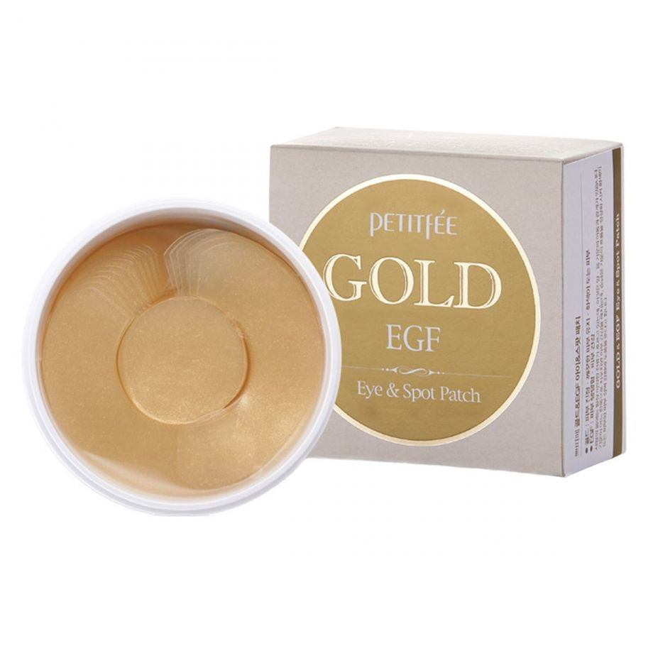 [PETITFEE] Набор патчей для век гидрогел. ЗОЛОТО/EGF Gold & EGF Eye&Spot Patch, 90 шт