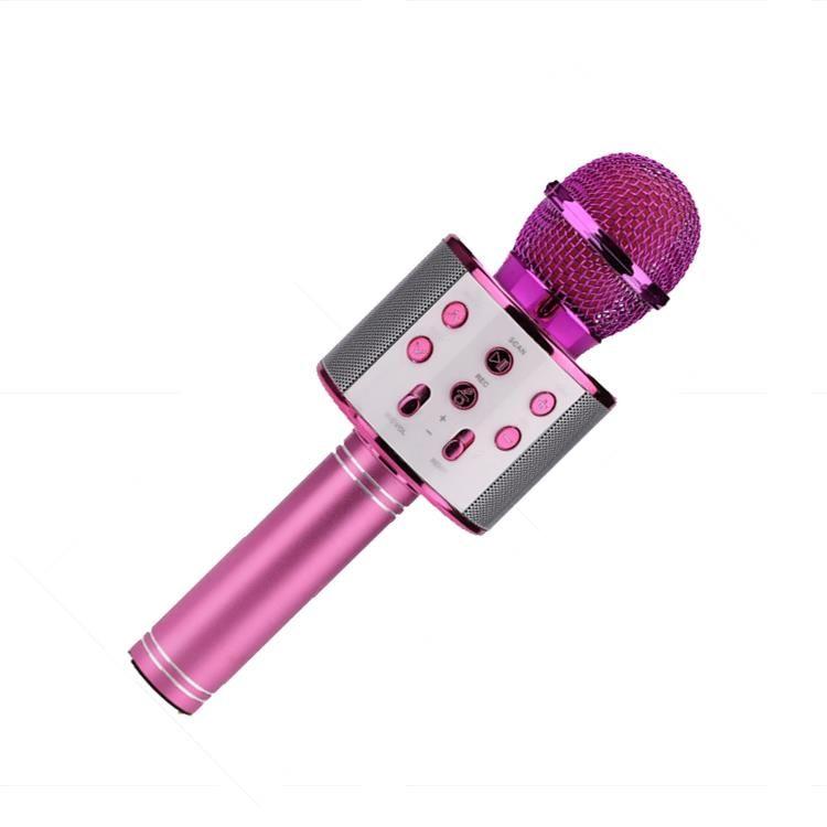 Караоке Микрофон WS-858, Цвет Розовый