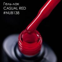 Гель-лак NUB 138 CASUAL RED, 8 мл
