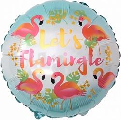Стиль Фламинго фольгированный шар с гелием
