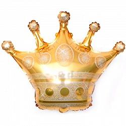 Золотая корона фольгированный шар с гелием