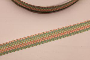 Лента репсовая с рисунком, ширина 22 мм, длина 10 метров, ЛР5686