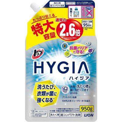 Lion Тop Hygia Жидкое средство для стирки антибактериальное концентрированное с ароматом мяты