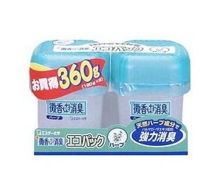 Гелеобразный освежитель воздуха Bikou de shoushuu без запаха, 2 х 180 гр.