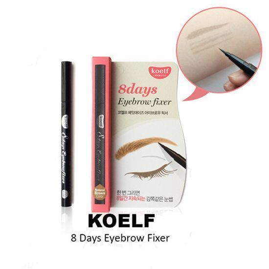 [KOELF] ПЕРМАНЕНТНЫЙ ТИНТ-КАРАНДАШ ДЛЯ БРОВЕЙ/ТЕМНО-КОРИЧ. 8 days Eyebrow Fixer (2.Dark Brown Color)