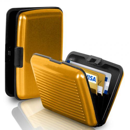Кейс для кредитных карт Security Credit Card Wallet (цвет золотистый)