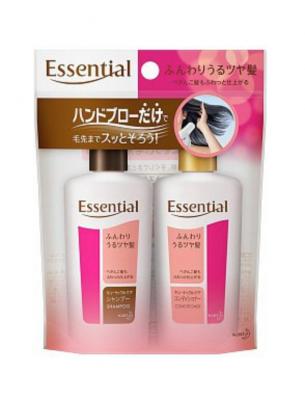 Kao Essential Набор: шампунь и кондиционер восстанавливающие с увлажняющим и разглаживающим эффектом 2*45 мл