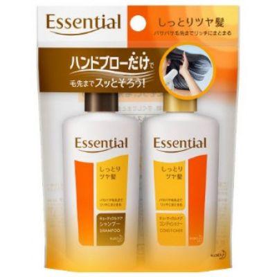 Kao Essential Набор: шампунь и кондиционер с разглаживающим и укрепляющим эффектом 2*45 мл