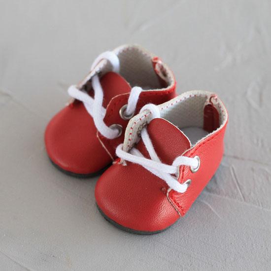 Обувь для кукол - ботиночки 5 см (красные)