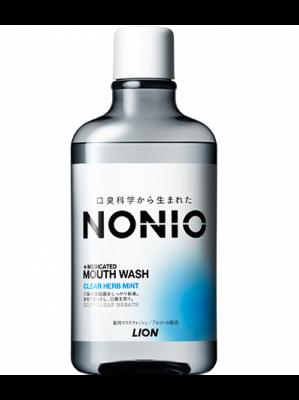 Lion Nonio Ополаскиватель для полости рта лечебно-профилактический антибактериальный бесспиртовой 600 мл