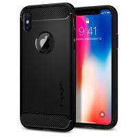 Чехол SGP Spigen Rugged Armor для iPhone X черный