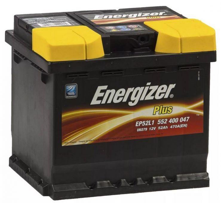 Автомобильный аккумулятор АКБ Energizer (Энерджайзер) EP52L1 552 400 047 52Ач о.п.