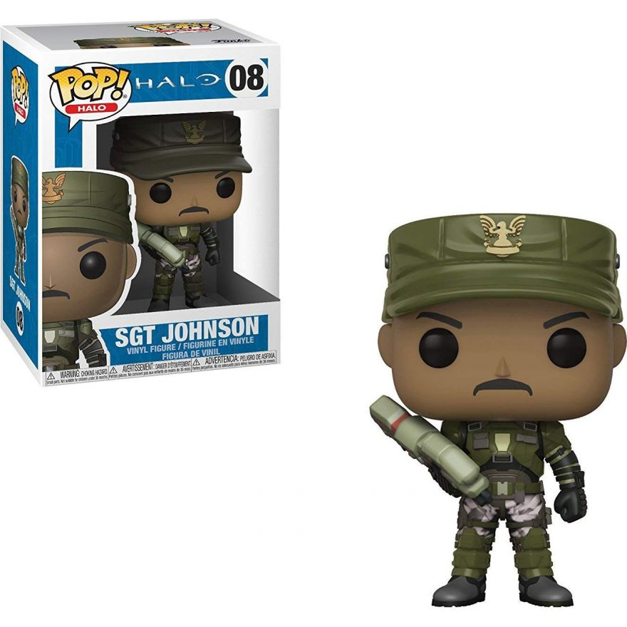 Фигурка Funko POP! Vinyl: Games: Halo: Sgt. Johnson w/Chase (Cigar) 30101