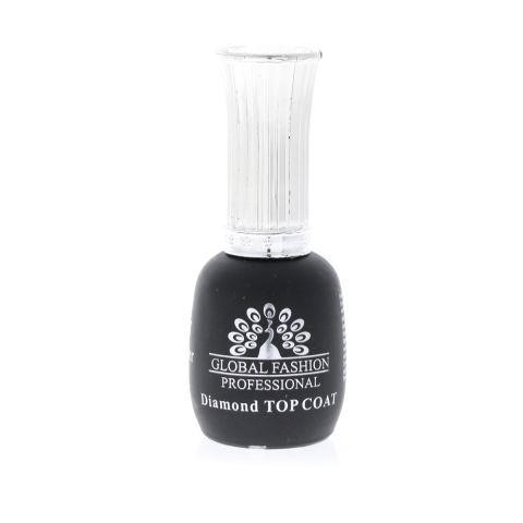 Универсальное верхнее покрытие без липкого слоя (топ/финиш), Top Coat Diamond, 12 мл., Global Fashion