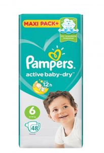 Подгузники Pampers Active Baby-Dry Extra Large 13-18кг, 48шт