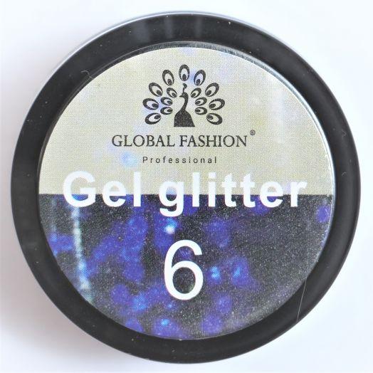 Гель глиттер Глобал Фэшн (мелк) №6