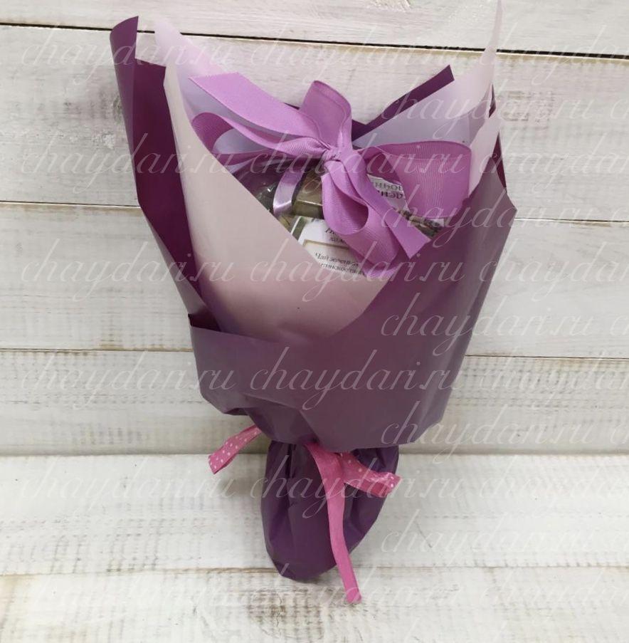 """Букет из чая и сладостей """"Благородный пурпур"""""""