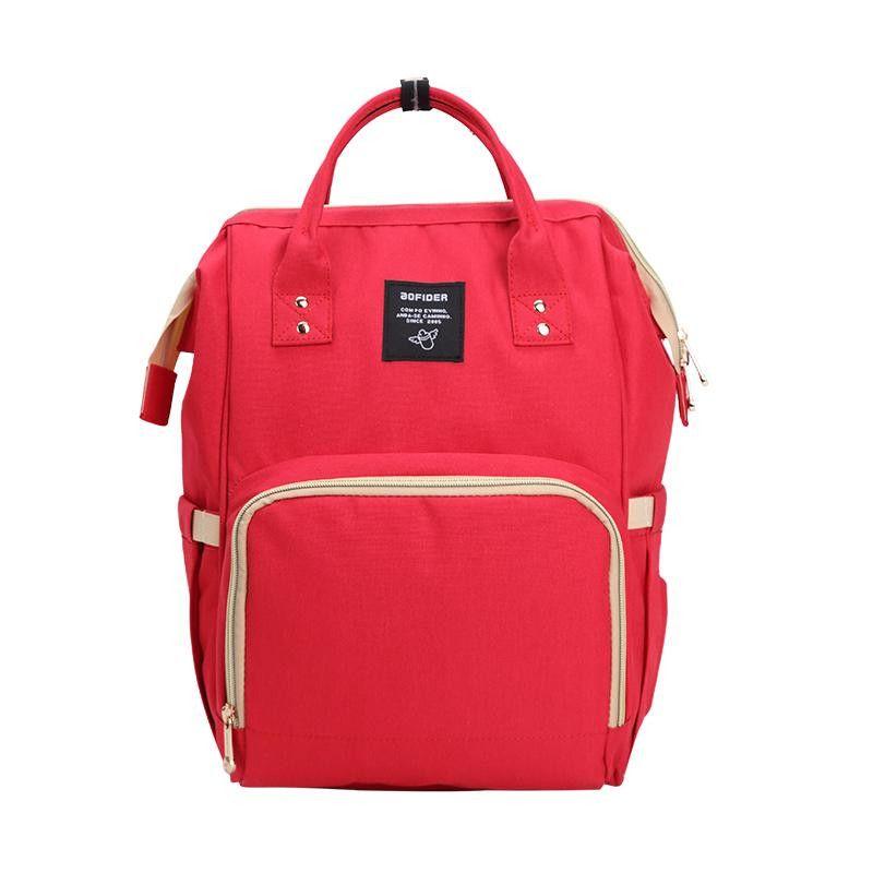 Сумка-рюкзак для мамы Baby Mo (MUMMY BAG), цвет красный