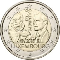 Люксембург, 2 евро 2018 год, Герцог Гийом I