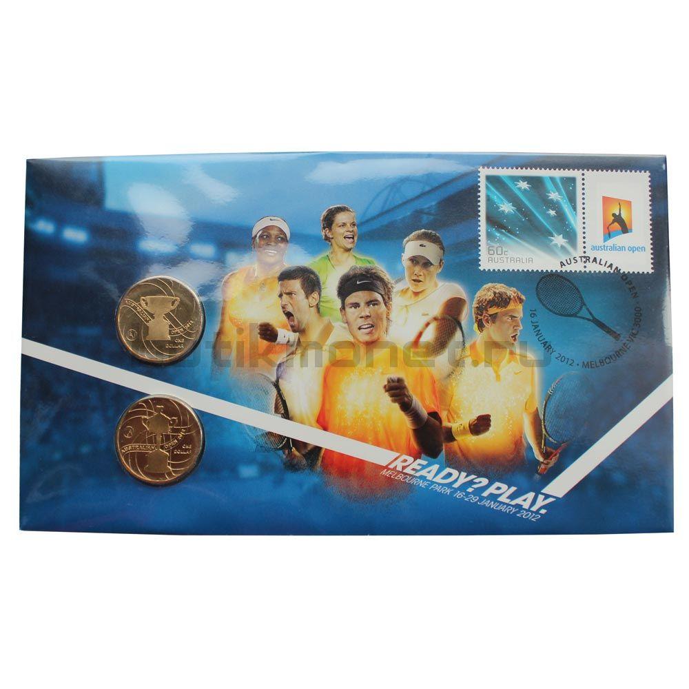 Набор монет 2012 Австралия Открытый чемпионат Австралии по теннису (2 штуки)