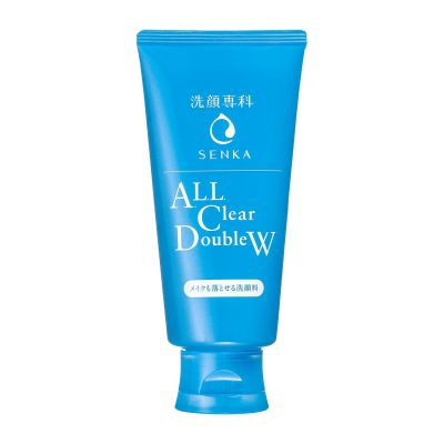 """SHISEIDO"" ""SENKA"" ""ALL Clear Double W"" Пенка для умывания и снятия макияжа с гиалуроновой кислотой и протеинами шелка, 120 гр."