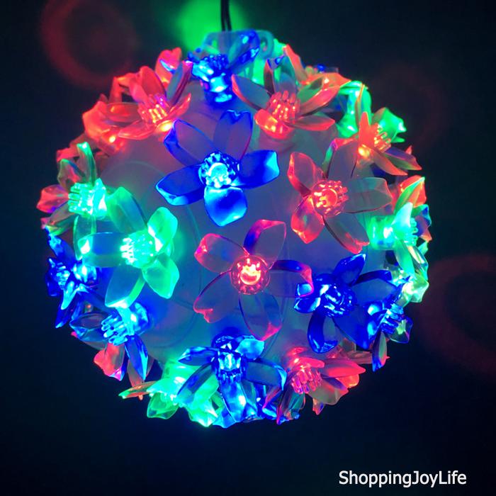 Эксклюзивный светодиодный LED шар с лампами в виде цветов Led Light, 50 ламп