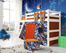 Соня Вариант №6 - Белый + штора ( песко оранжевый)