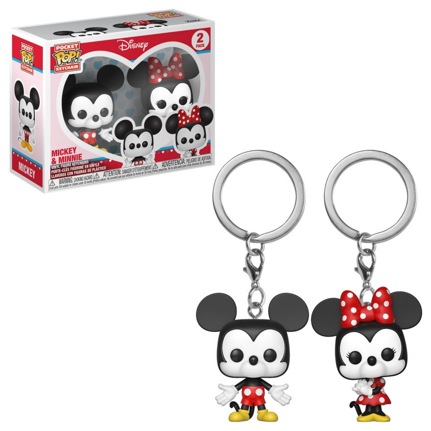Брелок Funko POP! Keychain: Disney: Mickey: 2PK Mickey & Minnie 36368-PDQ