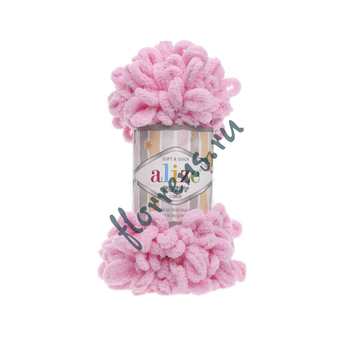 Пряжа Alize Puffy / 185 розовый