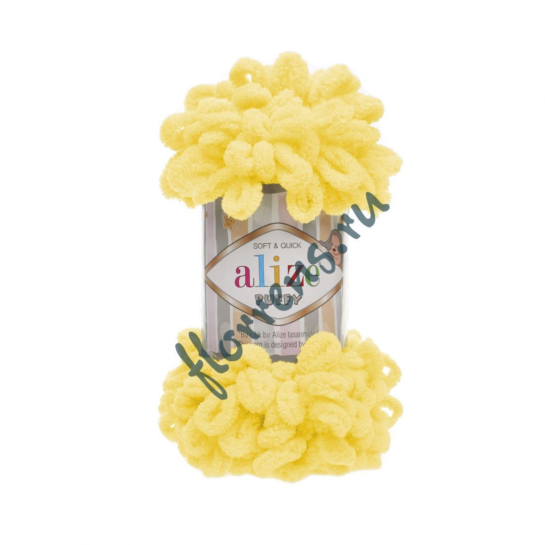 Пряжа Alize Puffy / 216 желтый