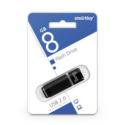USB накопитель Smartbuy 8GB Quartz series Black