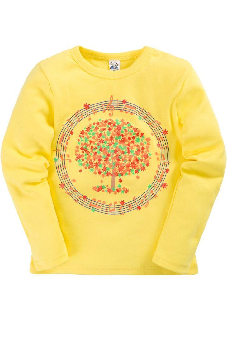Яркий желтый джемпер для девочки