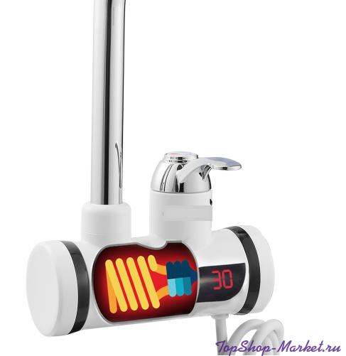 Проточный электрический водонагреватель INSTANT ELECTRIC HEATING WATER FAUCET, Модель: С лейкой