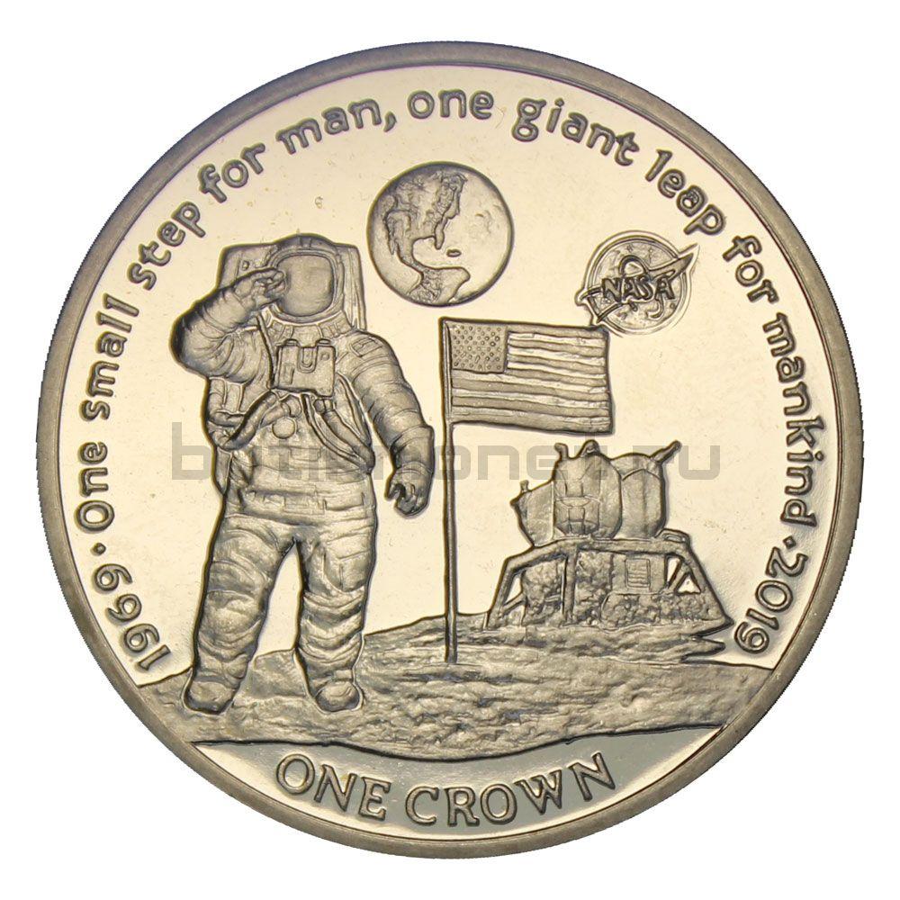 1 крона 2019 Остров Вознесения 50 лет высадке на Луне