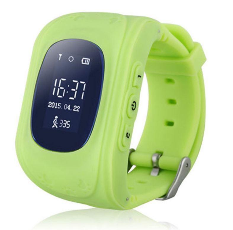 Умные Детские Часы С GPS Smart Baby Watch Q50, Цвет Зеленый
