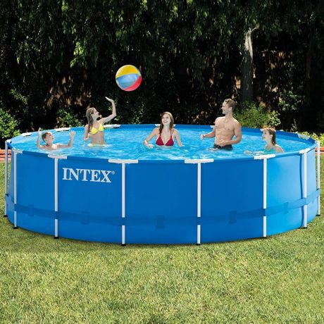 Каркасный бассейн Intex 28242 - 1, 457 x 122 см (тент, подстилка)