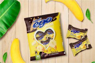 """Диадар"" Батончики мюсли ""Ego"" мини ""Банан"" в молочном шоколаде 140г"