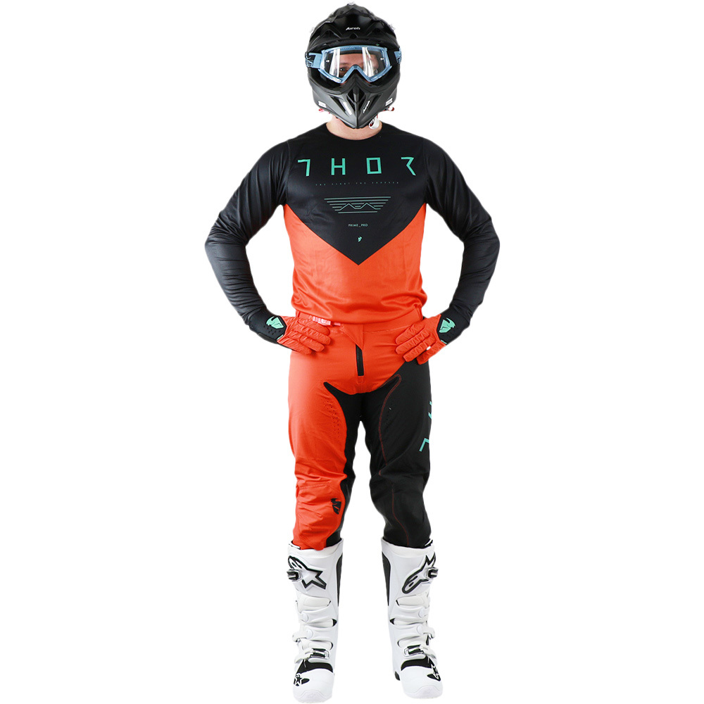 Thor - 2019 Prime Pro Jet Black/Orange комплект джерси и штаны, черно-оранжевый