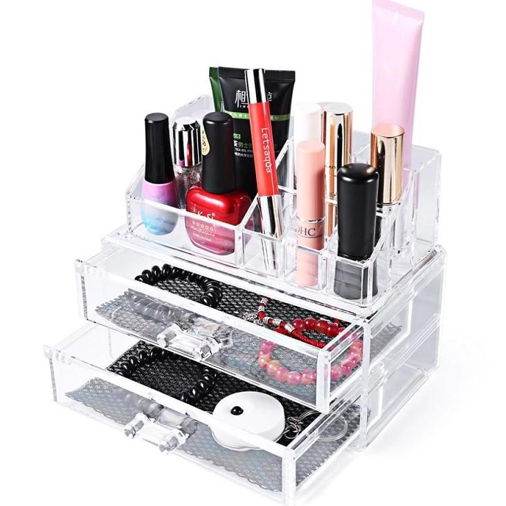 Акриловый Органайзер Для Косметики Cosmetic Organizer 8013, 2 Ящичка