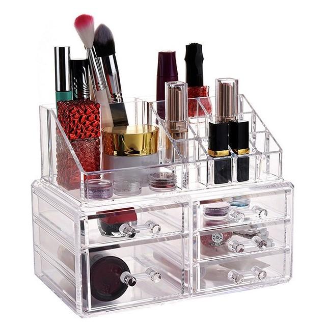 Акриловый Органайзер Для Косметики Cosmetic Storage Box, 5 Ящичков